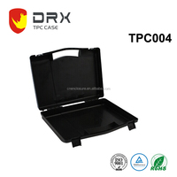 Black Tool box popular hard handle plastic tool box for small equipment , 400*340*90mm
