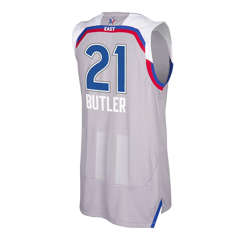 9a0c5ef737c Get Quotations · Chicago Bulls 2017 NBA Jimmy Butler East All Star Swingman  Jersey (Gray)