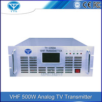 VHF 170-230MHz 10W-500W wireless Analog TV Transmitter all-solid-state tv station