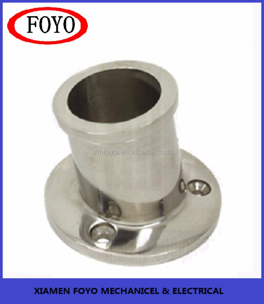 316 stainless steel top Mounted Flagpole Socket for marine boats with high quality