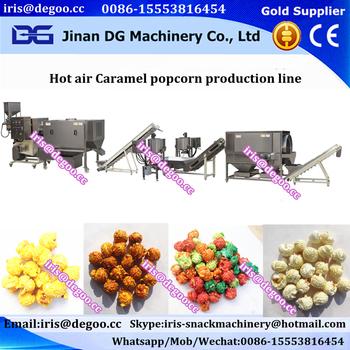 Fully Automatic Caramel Popcorn Machine Puff Corn Snack Machine ...