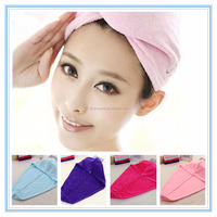 High Quality microfiber hair towel wraps with button