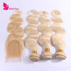 Blonde Color Brazilian Human Virgin Hair Wholesale
