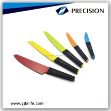 Durable and Fashion Non-Stick Coating Colourful Kitchen Knives/multi color knife set