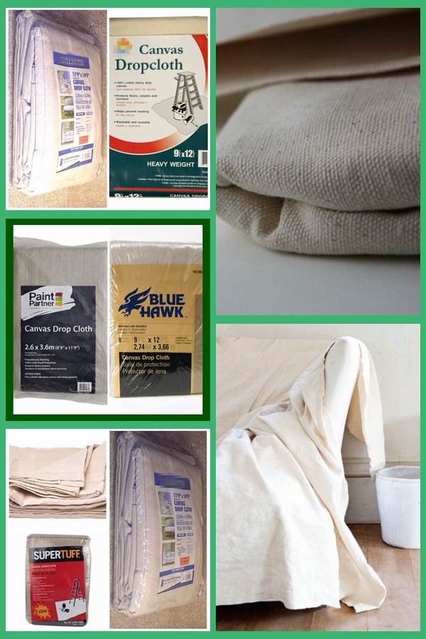 cotton twill canvas drop cloth