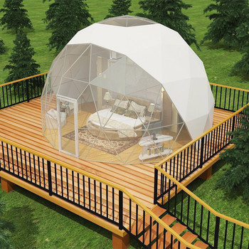 Outdoor Glamping Geodesic Dome Steel Structure Frame Tent