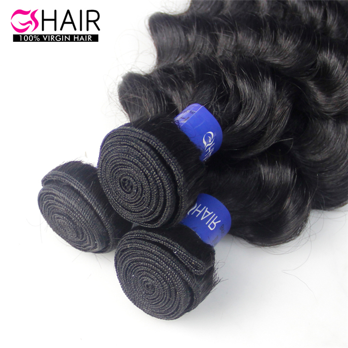 Cheap virgin indian natural raw hair french curl hair extension