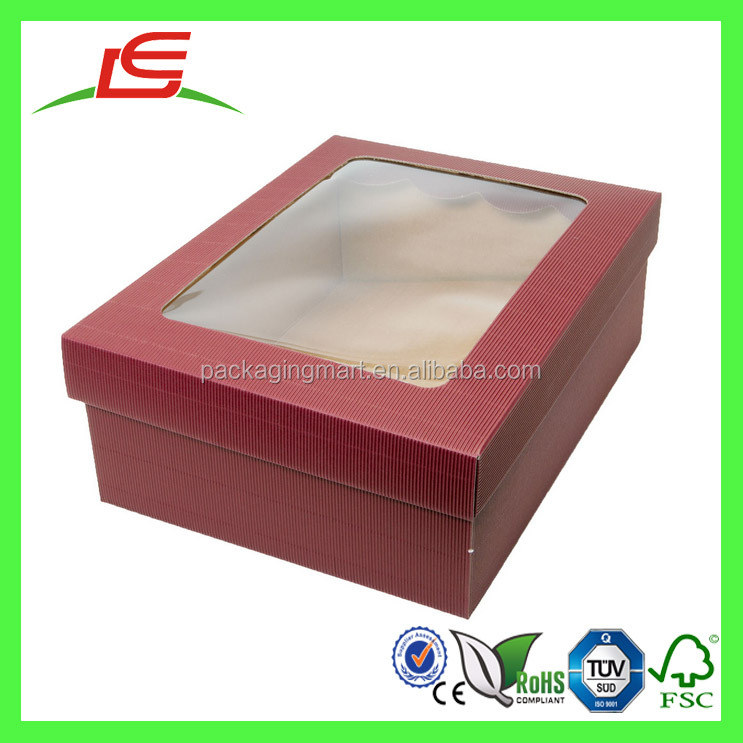 J845 Alibaba China Wholesale Luxury Custom Hamper Boxes with Clear Window