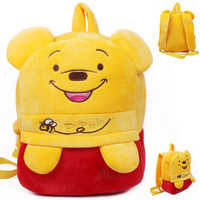 Excellent Quality plush book bag cartoon cute winnie the pooh shoulder bag for Children