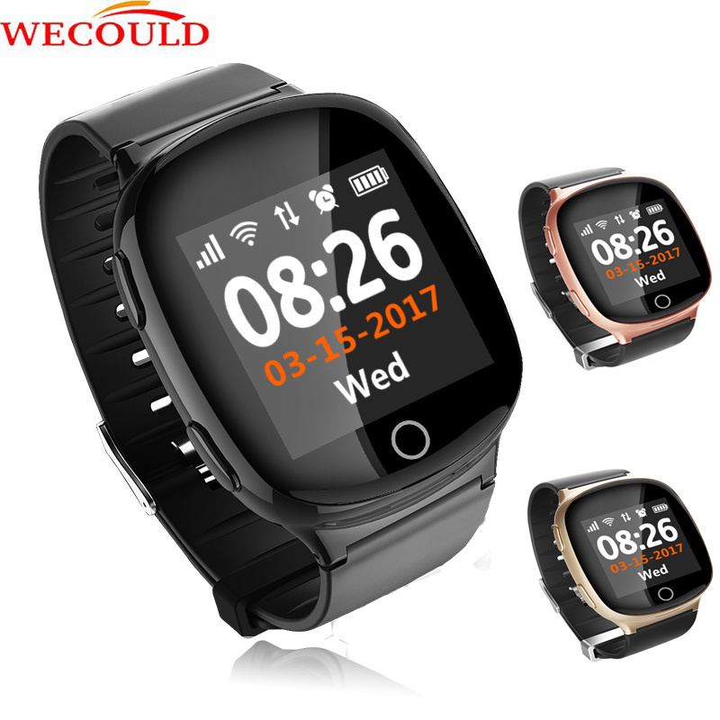 WECOULD Elderly GPS Watch D100/Touch Screen 4G Sim Card Mobile Watch Phone/Bluetooth GPS Tracker SOS Fall Down Alarm