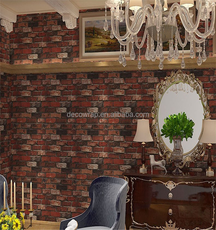 Modern Stone wall decoration paper 3d Brick Pattern Wall paper Wallpaper For Living Room Bedroom Background