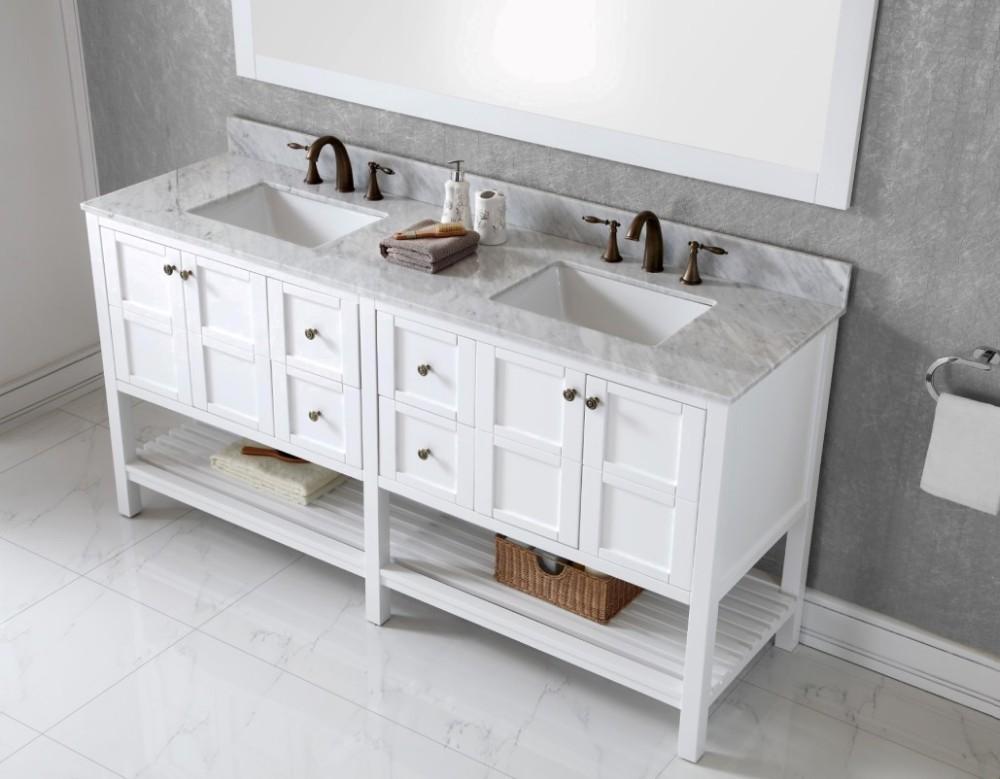 72 classico stile doppio lavandino del bagno lavandino con - Doppio lavello bagno ...
