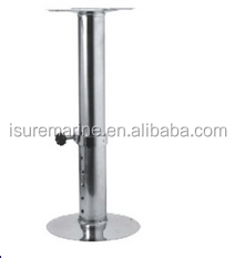 STAINLESS STEEL S.STEEL SEAT PEDESTAL ADJUSTABLE MODEL FOR BOAT SHIP MARINE