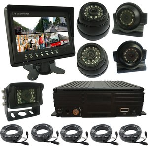 bus surveillance solution/4-channel Mini Camera Gp Gpr Gsm Vehicle Tracking System