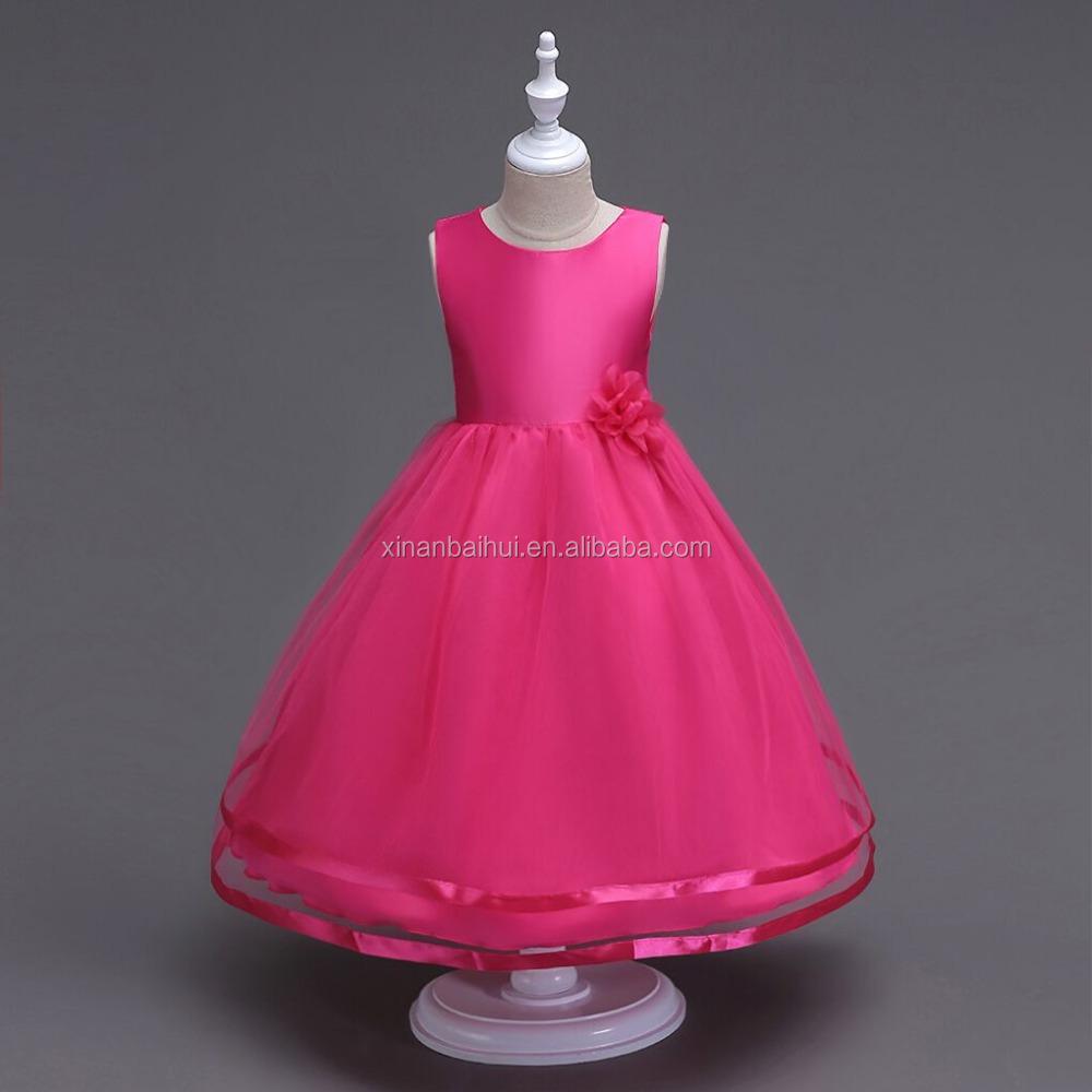 Europea niña vestido de cumpleaños vestido de fiesta de noche Rosa ...