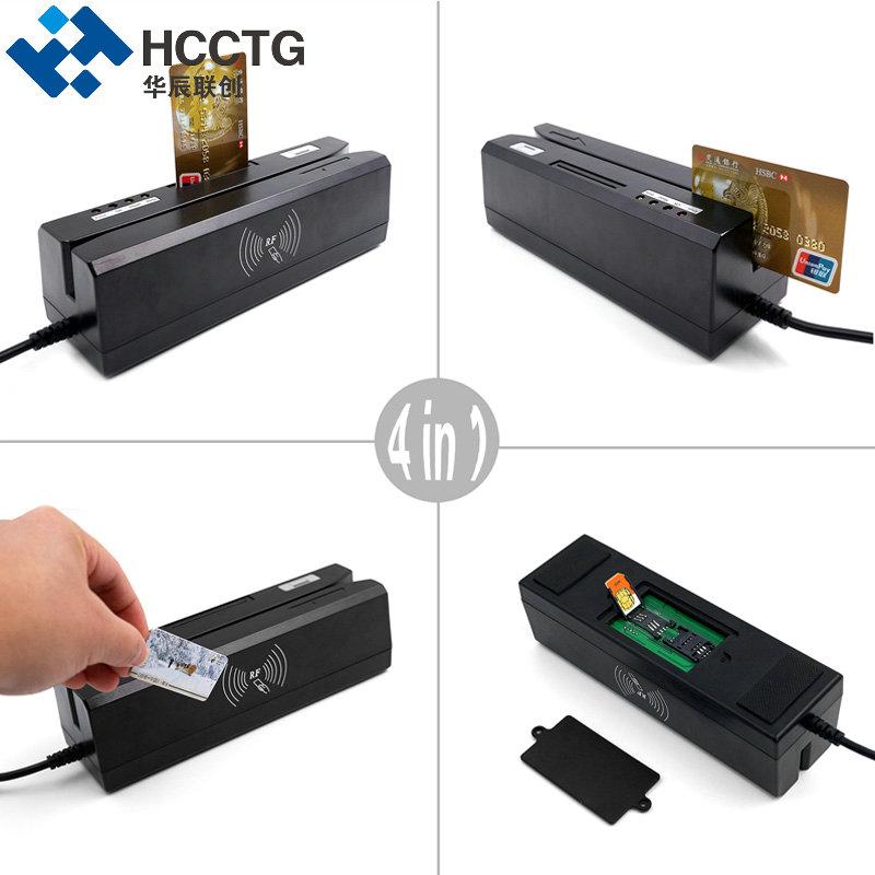 Giá rẻ 4 trong 1 RFID/MSR/Magnetic Stripe IC Chip Card Reader Writer Với SDK Miễn Phí HCC80