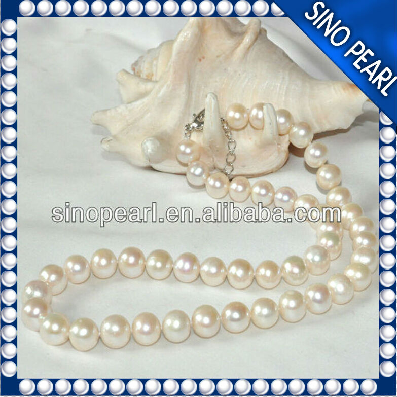 A9-10MM China Good luster Freshwater Really Pearls Necklace price