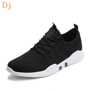2018 hot sale knitted upper sport shoes men