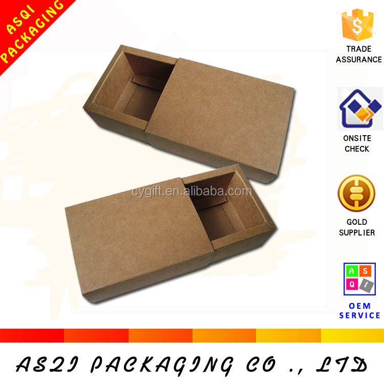 Recycle and Disposable Brown Kraft Paper Drawer Boxes Soap Gift Packaging Boxes