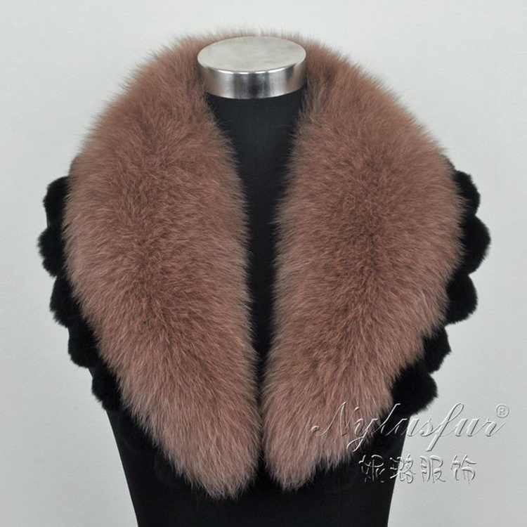 Wholesale genuine natural or colorful fox fur trim for hood
