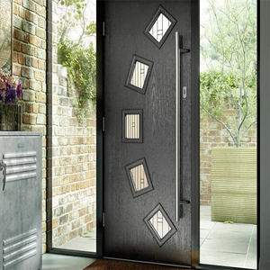 Latest Exterior Wood Door Pictures, Modern Grill Wrought Iron Door Main Gate Door Design
