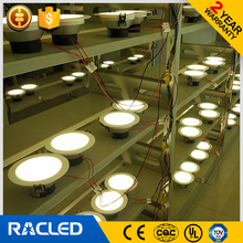ac220v SMD2835 cool white 6000k 80lm/w led downlight 12w 1000lm aluminium plastic body patent design