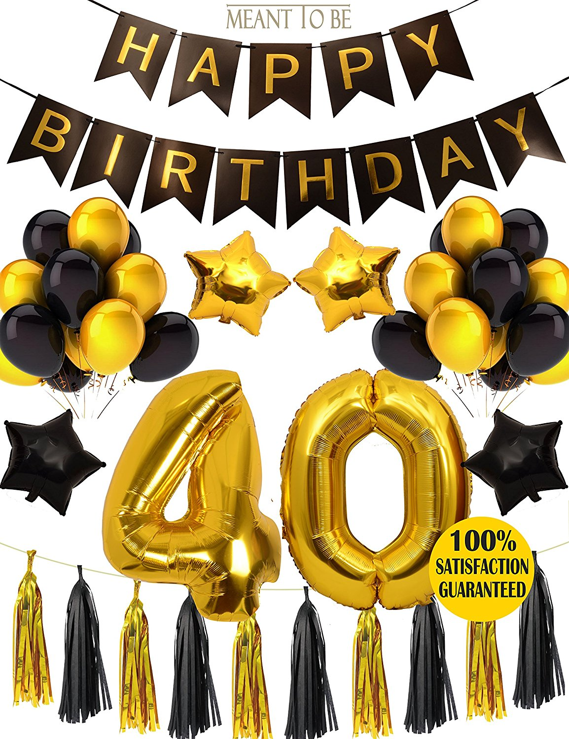 Get Quotations Meant2ToBe 40th Birthday Party Decorations KIT