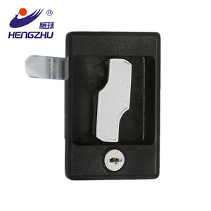 Electrical control panel door lock with keys