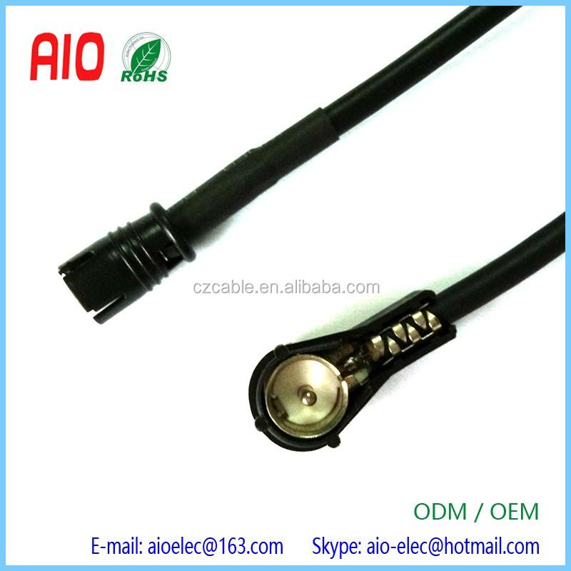 Adaptador conector macho ISO para antena autoradio cable RG58