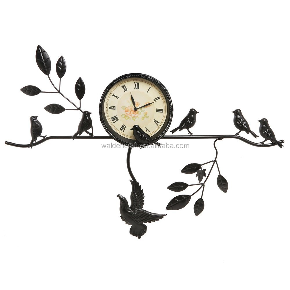 Walden Artesanía Decorativa Árbol Negro Rama Y Aves Diseño Estilo ...
