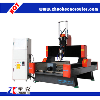 High Accuracy 4 Axis Cnc Engraver For Marble Crystal Sand Stone Zk 9015 With Pci