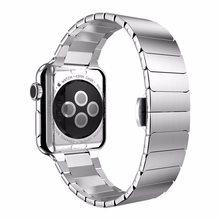 Роскошный ремешок для часов Apple, 38 мм, 42 мм, застежка-бабочка, браслет из нержавеющей стали, ремешок для iwatch, ремешок из розового золота(Китай)