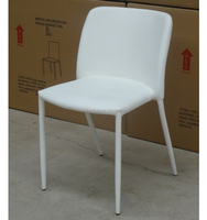 USD 10 metal powder coat white leather seat chair for restaurant on sale CH-281