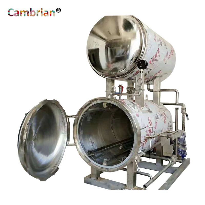 Water immersion double tank autoclave sterilizer