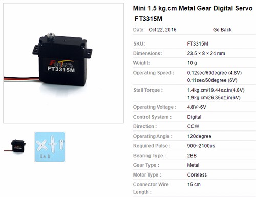 FT3315M Mini size Metal Gear 10g Servo Digital RC Micro Servo, View micro  digital servo, FEETECH Product Details from Shenzhen Feixiang Model Co ,