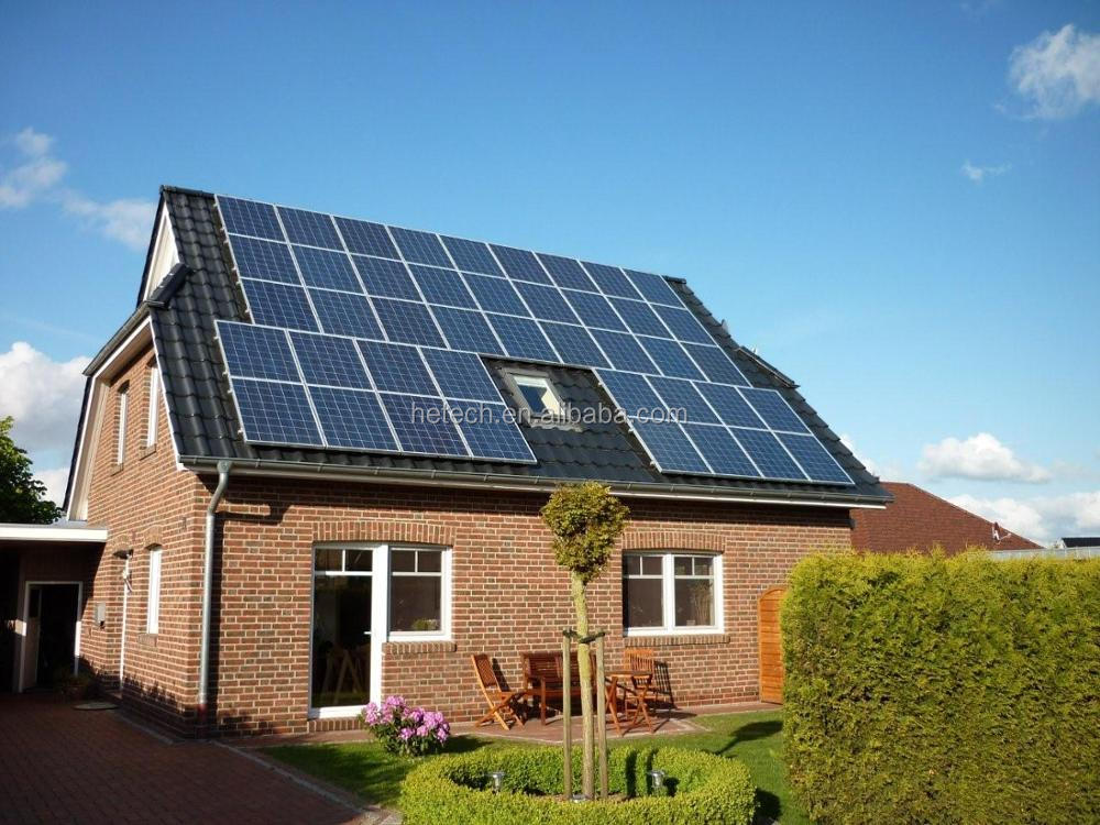 Solar Complete Set Supply Rural Area Use On Grid 2kw Solar Power System