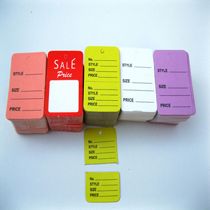 Custom Double Side Print Price Ticket,Retail Merchandise Price Tags,Sales Pricing Tag with Numbers