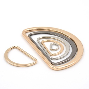 F4-7 Rings for Metal alloy semi-circle type Bags Garment Accessories Buckle D ring