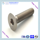 China supplier M6 titanium flat head countersunk bolts