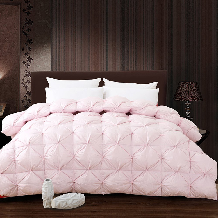 White Pink Grade A Natural 95 Goose Down Comforter Twin