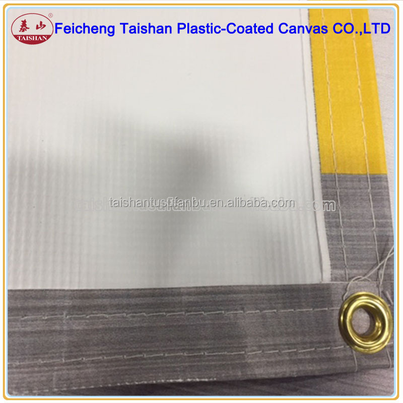 China fabric factory supply 500D*500D Laminated Fabric pvc tarpaulin for advertisement cloth, light box cloth