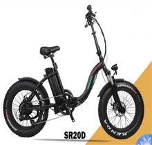 36v 350w mini fat tire folding black electric bike with bending frame