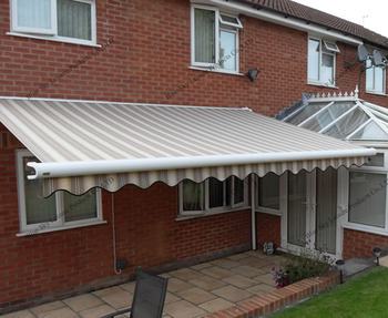 Easy Install Retractable Prefab Metal Awnings For Balcony ...