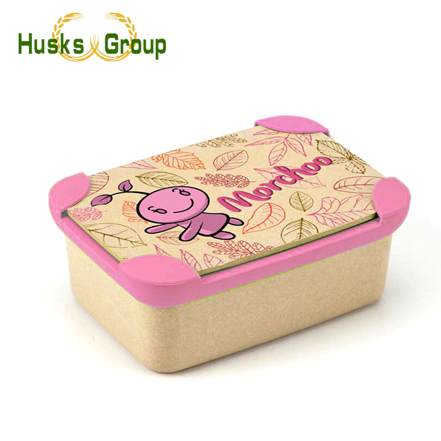 OEM or ODM Eco-Friendly Rice Husks Fiber Take Away Bento Lunch Box