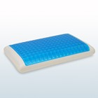 Square Memory foam sponge pillow with cooling gel, Bread shape PU gel pillow