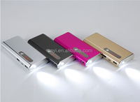 10000mah aluminium alloy material best quality power bank gold silver red black color mobile powerbank