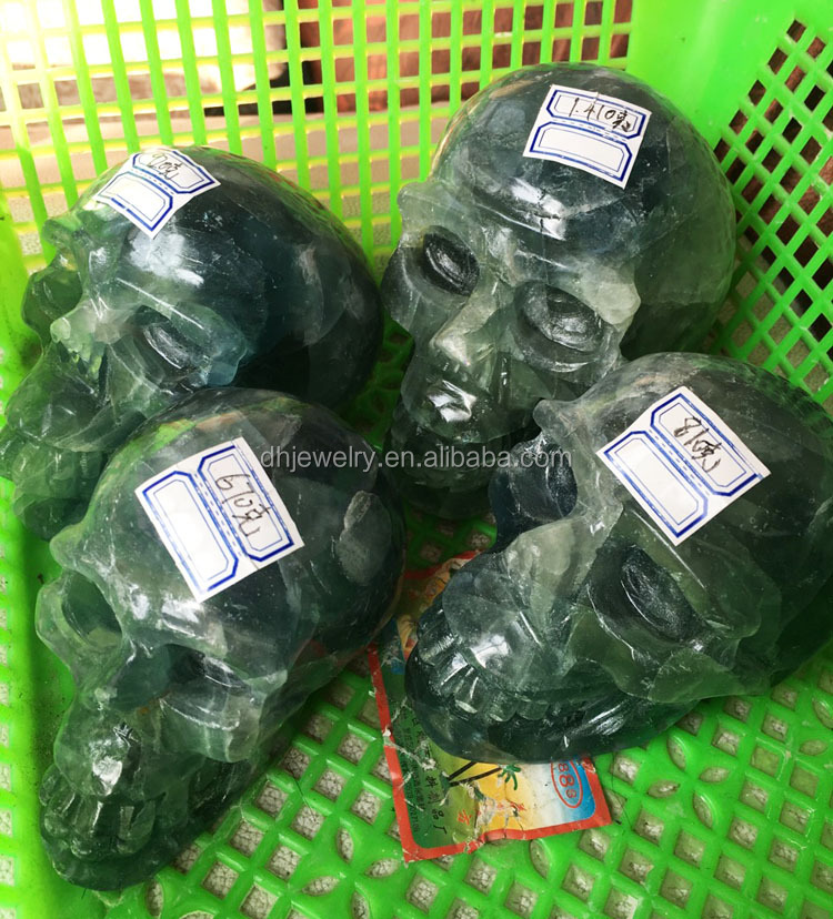 Естественное хорошее качество флюорит драгоценный камень резьба хрустального черепа для искусства Herstellung Hersteller, Lieferanten, Exporteure, Großhändler