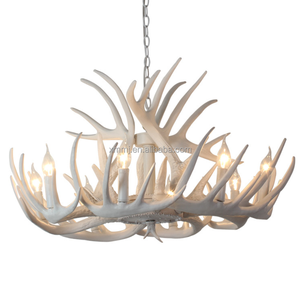 Modern Handmade decorative white colored resin antler chandeliers lighting