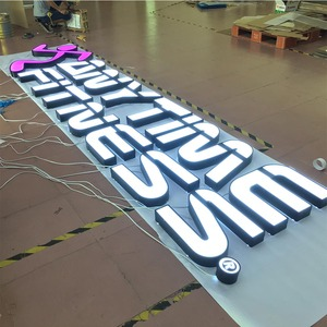 Custom made outdoor high brightness 12V light led sign board channel letter signage custom metal stainless 3d acrylic led signs