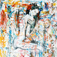 High Quality Original Hnadmade Wall Art Canvas Handpainted Beautiful Nude Lady Figure Oil Painting